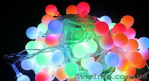 Led гирлянда «Нить-шарики» 5 м, прозрачный кабель 100led - Изображение #1, Объявление #1493525