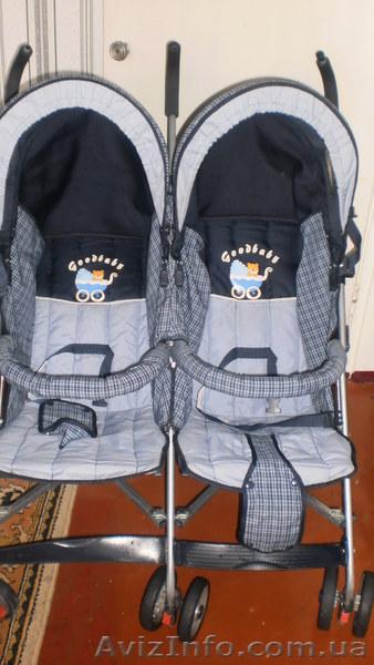 Продам прогулочную коляску для двойняшек, Объявление #864586