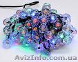 Гирлянда 2м,  100 led (разноцветные),  8 режимов,  с украшением на лампочку кристал